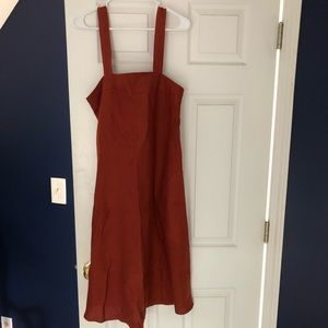 No. 6  Virginia linen dress in rust - New NWT